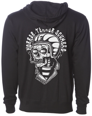 The SCUMBAG Full Zip Midweight Hoodie - BLACK