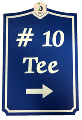 Engraved Golf Sign