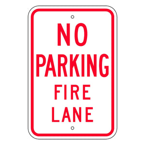 No Parking Fire Lane Sign - Municipal Supply & Sign Co.