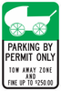 Baby Parking Zone By Permit Only Sign
