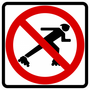 BR9-13-No Skaters Sign - Municipal Supply & Sign Co.