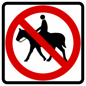 BR9-14-No Equestrians Sign - Municipal Supply & Sign Co.