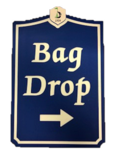 Bag Drop Sign - Municipal Supply & Sign Co.