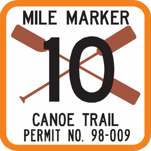 Canoe Trail Sign