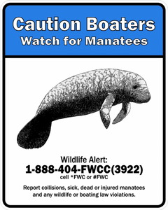 Caution Boaters Sign