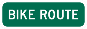 Bike Route Sign - Municipal Supply & Sign Co.