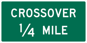 D13-2-Crossover Sign - Municipal Supply & Sign Co.