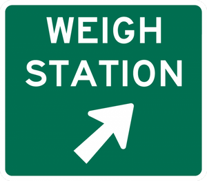 D8-3-Weigh Station Sign (with arrow) - Municipal Supply & Sign Co.