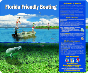 Florida Friendly Boating Sign - Municipal Supply & Sign Co.