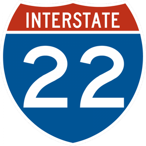 M1-1-Interstate Route Sign (1 or 2 digits)
