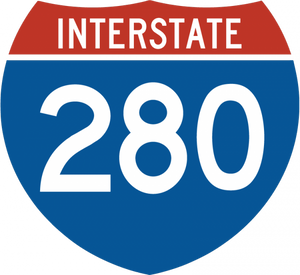 M1-3-Off-Interstate Route Sign (3 digits)