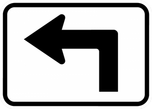 M5-1-Advance Turn Arrow Sign - Municipal Supply & Sign Co.