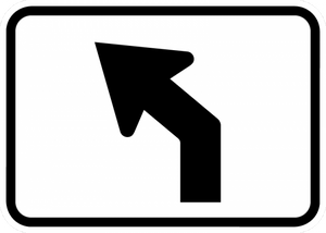 M5-2-Advance Turn Arrow Sign