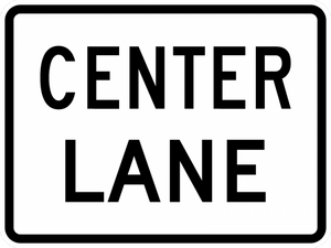 M5-5-Lane Designation Sign - Municipal Supply & Sign Co.
