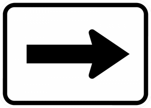M6-1-Directional Arrow Sign