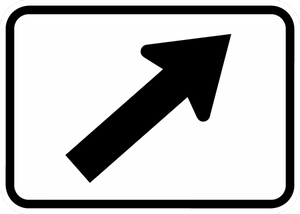 M6-2-Directional Arrow Sign - Municipal Supply & Sign Co.