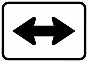 M6-4-Directional Arrow Sign - Municipal Supply & Sign Co.