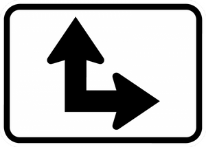 M6-6-Directional Arrow Sign - Municipal Supply & Sign Co.