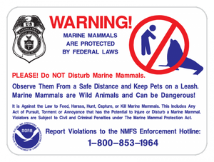 Marine Animal Protection Sign - Municipal Supply & Sign Co.