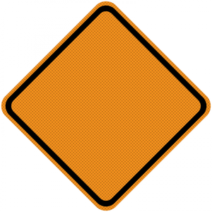 WO-R-Mesh construction zone signs