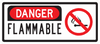 Danger Flammable Sign (With No Smoking Symbol)