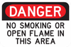 Danger No Smoking Or Open Flame In This Area Sign - Municipal Supply & Sign Co.