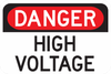 Danger High Voltage Sign - Municipal Supply & Sign Co.