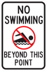 No Swimming Sign - Municipal Supply & Sign Co.