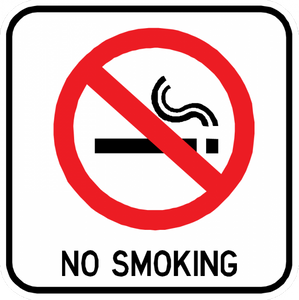 No Smoking Sign - Municipal Supply & Sign Co.