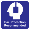 Ear Protection Recommended Sign