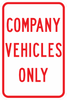PS-10-Company Vehicles Only Sign - Municipal Supply & Sign Co.