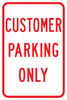 PS-13-Customer Parking Only Sign - Municipal Supply & Sign Co.