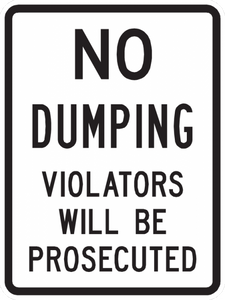 PS-30-No Dumping Violators Will Be Prosecuted Sign - Municipal Supply & Sign Co.