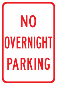 PS-31-No Overnight Parking Sign - Municipal Supply & Sign Co.