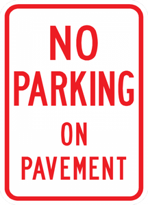 PS-35-No Parking On Pavement Sign