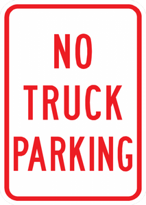 PS-42-No Truck Parking Sign - Municipal Supply & Sign Co.