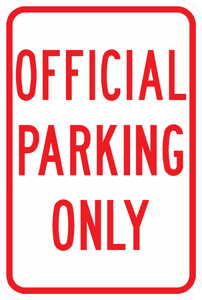 PS-43-Official Parking Only Sign