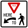 R1-5-Yield Here to Peds Sign