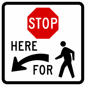 R1-5b-Stop Here for Peds Sign - Municipal Supply & Sign Co.