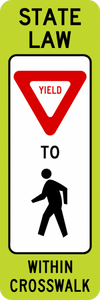 SR1-6-In-Street Ped Crossing Sign