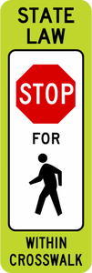 R1-6a-In-Street Ped Crossing Sign