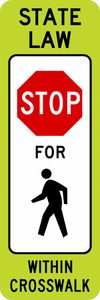 SR1-6a-In-Street Ped Crossing Sign