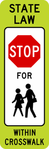 SR1-6c-In-Street Ped Crossing Sign