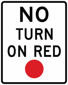 R10-11-No Turn on Red Sign