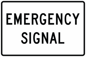 R10-13-Emergency Signal Sign - Municipal Supply & Sign Co.