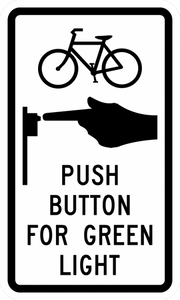 R10-24-Bike Push Button for Green Light - Municipal Supply & Sign Co.