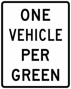R10-28-XX Vehicles Per Green Sign