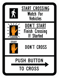 R10-3b-Pedestrian Signs and Plaques