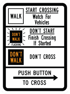 R10-3c-Pedestrian Signs and Plaques - Municipal Supply & Sign Co.