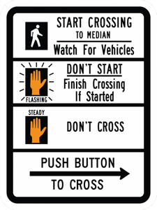 R10-3d-Pedestrian Signs and Plaques - Municipal Supply & Sign Co.